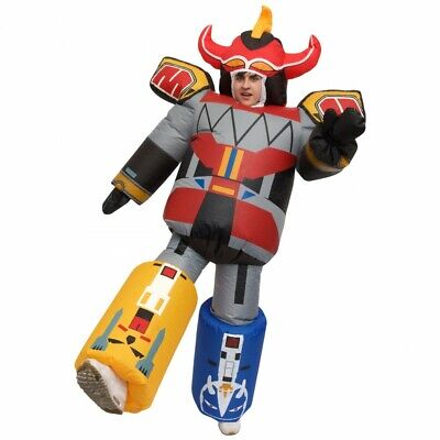 Giant Megazord Inflatable Costume Adult Power Rangers Robot Fancy Dress Zord