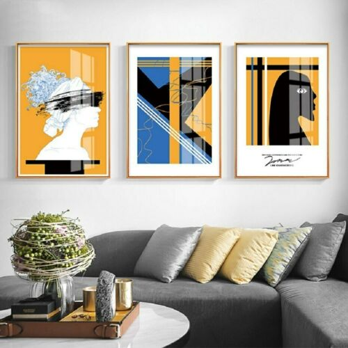 3+Piece+Canvas+Print+-+Abstract+Figure+Faces+Wall+Art+Home+Decor+%28UNFRAMED%29