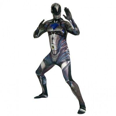 Morphsuits Men's Deluxe Movie Power Rangers Black Ranger Morphsuit Costume](Power Ranger Morphsuits)