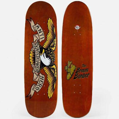 "Anti Hero Skateboard Deck Shaped Eagle Brown Bomber 8.86"" Overspray Antihero"