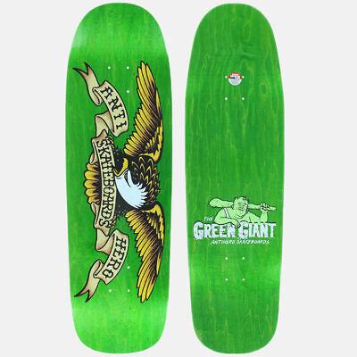"Anti Hero Skateboard Deck Shaped Eagle OV Green Giant 9.56"" Directional Antihero"