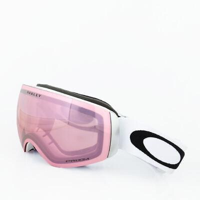 Oakley FLIGHT DECK XM Matte White Hi Prizm Pink Iridium Snow Goggle 7064-48 NEW