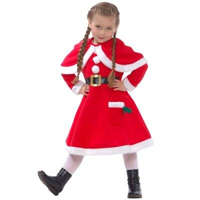 Little Miss Santa Claus Fancy Dress Costume for Girls Christmas Party - Little Miss Santa Outfit