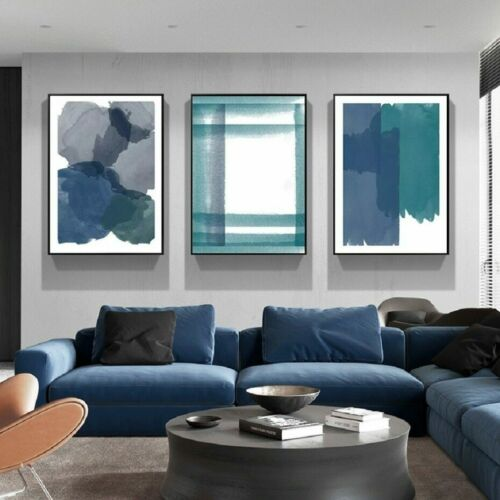 3+Piece+Canvas+Prints+-+Abstract+Ink+Wall+Art+Home+Decor+Painting+%28UNFRAMED%29