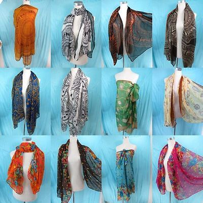 *US Seller*lot of 10 Scarves And Long Shawl wholesale scarf pareo sarong wrap