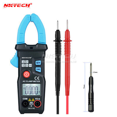 Nktech Nk210e Auto Digital Clamp Meter Multimeter Acdc V Ac Current Ohm Backlit