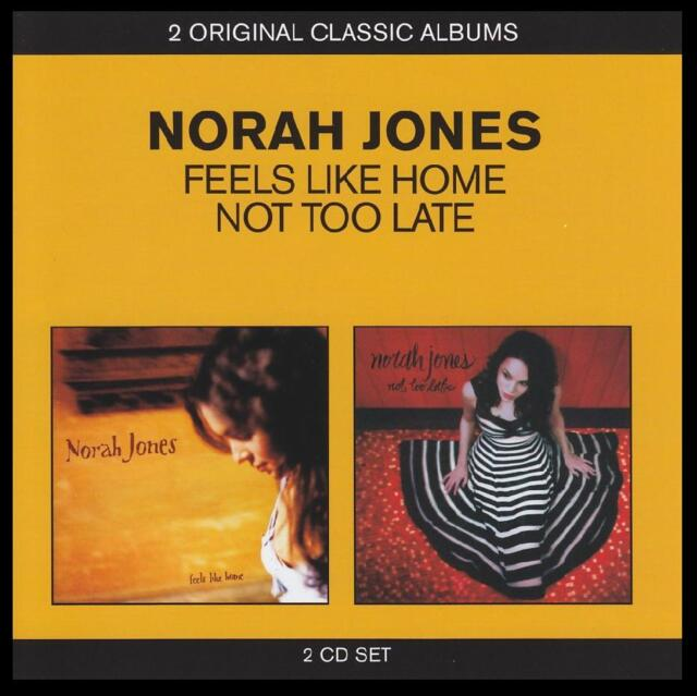 NORAH JONES (2 CD) FEELS LIKE HOME + NOT TOO LATE ~ JAZZ / POP / PIANO *NEW*