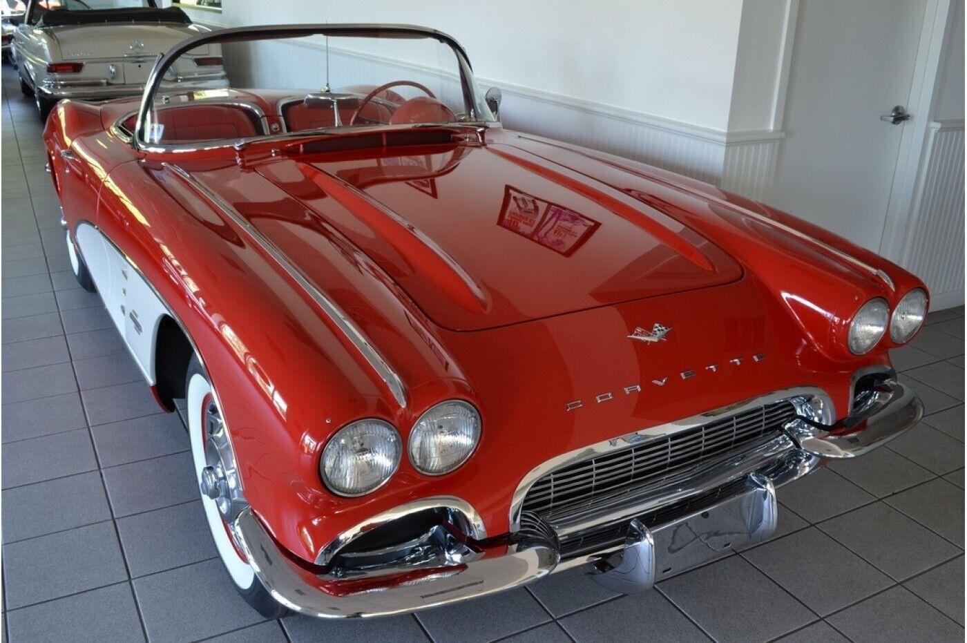 1961 Red Chevrolet Corvette   | C1 Corvette Photo 1