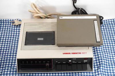 Lanier Edisette 1977 Vintage Dictation Machine Microphone W Foot Pedal Works