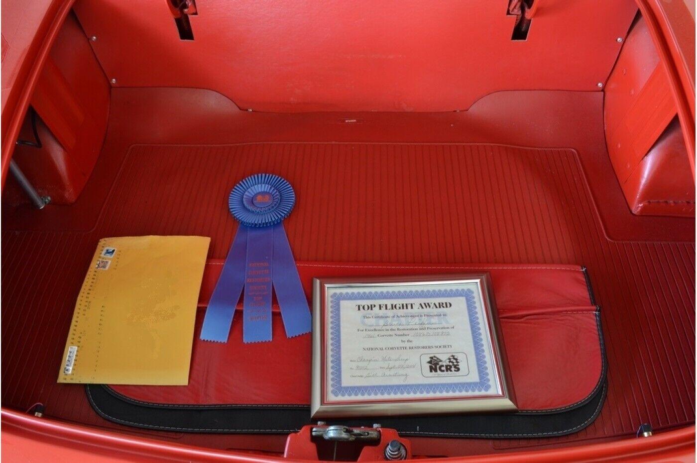 1961 Red Chevrolet Corvette   | C1 Corvette Photo 9