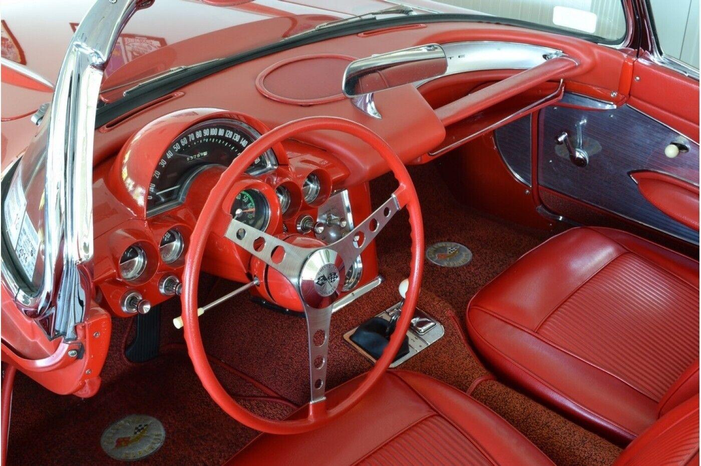 1961 Red Chevrolet Corvette   | C1 Corvette Photo 6