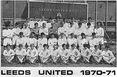 LEEDS UNITED FOOTBALL TEAM PHOTO 1970-71 SEASON