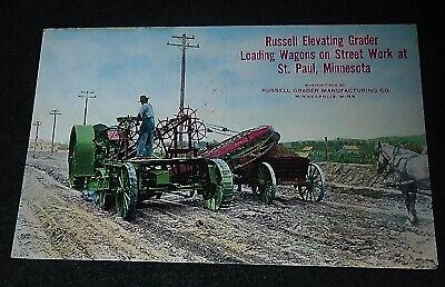 Russell Grader Manuf. Co, Minneapolis Minnesota Vintage Advertising Postcard