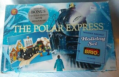 BRIO The Polar Express Train Wooden Railway 32501 Christmas Holiday 28pc Set