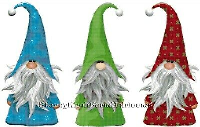 Gnomes 1 ~ Christmas, Fairy Tales ~ DIY Counted Cross Stitch Pattern ()