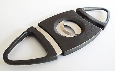 Double Blades Guillotine Cigar Cutter Pocket Knife Scissors Stainless Steel