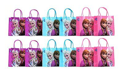 12x Disney Frozen Elsa reusable Birthday Party Favor Goodie Gift candy Loot Bags