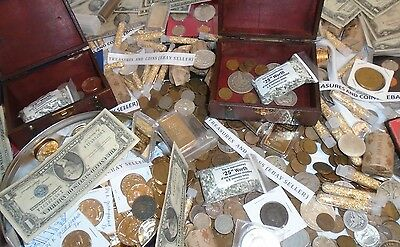 50 PIECE LOT OLD ESTATE LOT US COINS*GOLD SILVER*.999 BULLION HOARD GEMS SALE