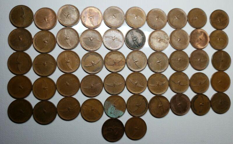 Lot Of 52 Canadian Centennial Pennies 1867-1967 Penny