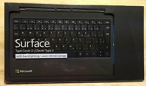BRAND NEW SEALED! Microsoft Surface Type Cover 2 Keyboard RT Pro 2 Black French!