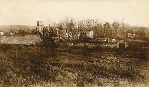 Guerre WW1 14-18 - Dives Vue sur le Château et l'Église Oise - GV165 - France - Nord Pas de Calais Picardie . Photographie tirage original, 13,5 cm x 8 cm environ. . - France