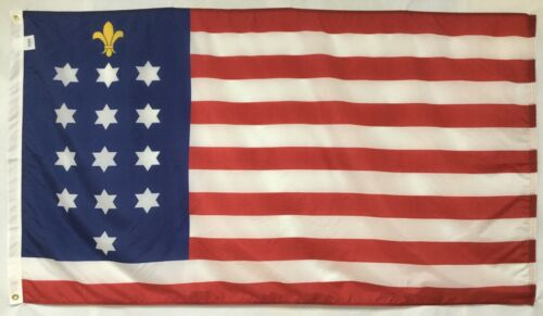 U.S. French Alliance 1781-82 Historical Outdoor Dyed Nylon Flag Grommets 3