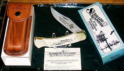 Schrade Sc507 Knife Inscribed Racing Lockback 1980 S 3 3 4