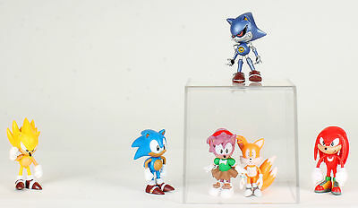 Sonic The Hedgehog Classic 6 Figures Set  Super Amy Metal Sonic Tails Knuckles