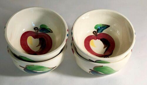 "4 Purinton Apple 4"" Dessert Bowls"