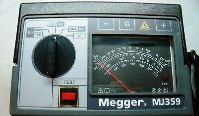 Megger Mj359 Hand Cranked 120v Line Powered Insulation Tester  Electric