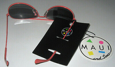 Maui and Sons Aviator Sunglasses MSACC005 Coral Frame NIP