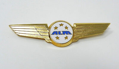 ALM Airlines Pilot Wings - Netherlands Antillean Five Star Golded Captain Badge