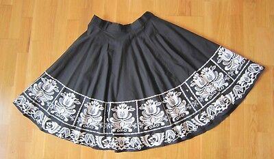 Falda de capa negra CATCH estampado blanco talla L mujer algodón 100% - 206 segunda mano  Cortijo de Corbado