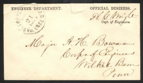 Pre or Early War Engineer Department Envelope – Horatio G. Wright Autograph