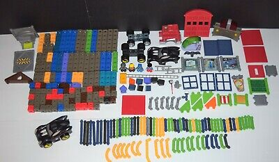 Huge Large Lot of Fisher-Price Trio Building Pieces - Batman Fire Station MORE