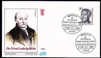 Berlin 723 FDC, 150. Todestag Dr. Ernst Ludwig Heim