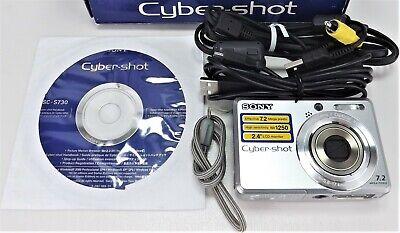 Sony Cyber-shot DSC-S730 7.2 MP Digital Camera Silver