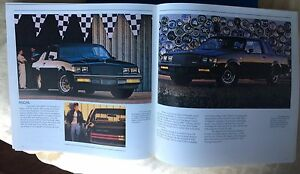 1987 Buick Dealer Brochure includes T-Type & Grand National
