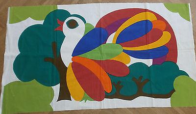 vogel farbenfroh pausa pop art textilkunst der moderne