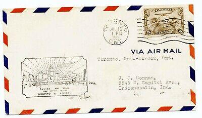 Canada 1929 Set of 16 First Flight Covers C230 & C231-231h Cachet #C1 Ioor