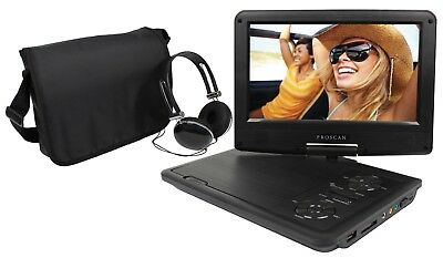 "Proscan 9"" Portable Swivel Screen DVD Player w/ Headphone & Carrying Bag Bundle"