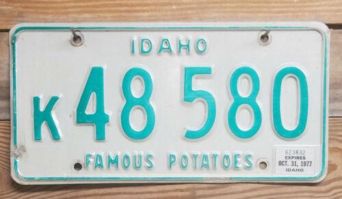 Idaho Expired 1977 Vintage License Plate ~ 48 580 ~ Embossed