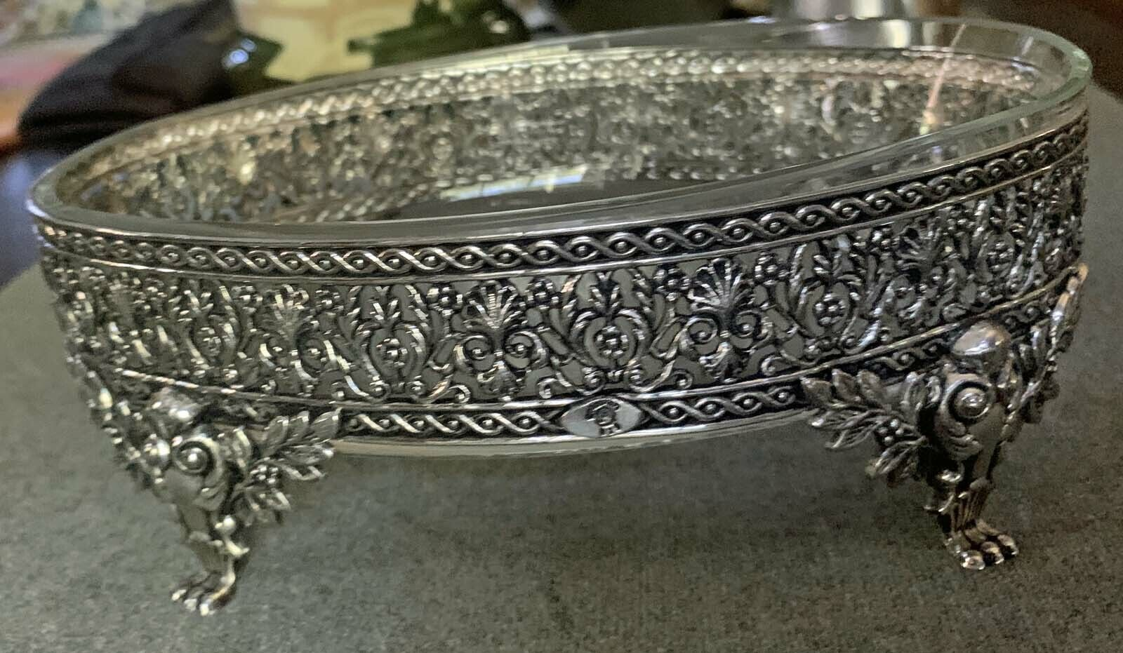 Sterling Silver/Oval Glass Bowl - $195.50