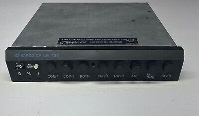 Narco CP 136 TSO Audio Panel with Tray