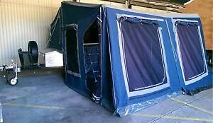 Camper trailer 7x4 box trailer with tent top ready for Easter! Clontarf Redcliffe Area Preview
