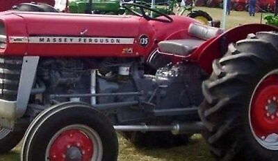 Made To Fit Massey Ferguson 135 Muffler 522589m91 W Perkins Gas Diesel Engin