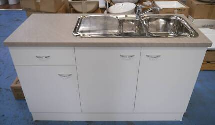 New Kitchen Cabinet Base Unit Double Bowl Sink Mixer Tap Package Richmond Yarra Area Preview