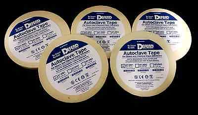 Autoclave Tapes 12 60yd Per Roll Defend Total 5 Pieces-300yd Total At-200