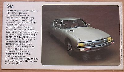 Advertising Booklet 1972 Car Auto mobile SM CITROEN Old Retro Poster Rare vtg