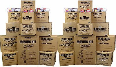 Large Moving Boxes Kit - Heavy Duty Cardboard Boxes Packing Supplies Shipping